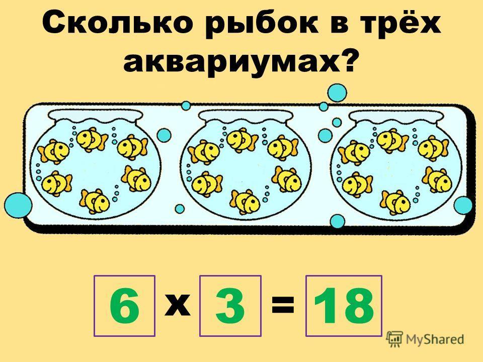 Сколько рыбок в трёх аквариумах? х = 6318