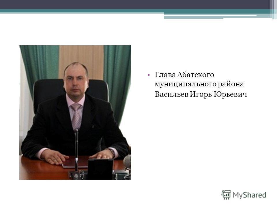 Глава Абатского муниципального района Васильев Игорь Юрьевич