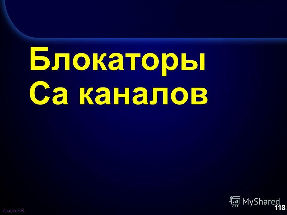 118 Блокаторы Са каналов Аникин Е.В.