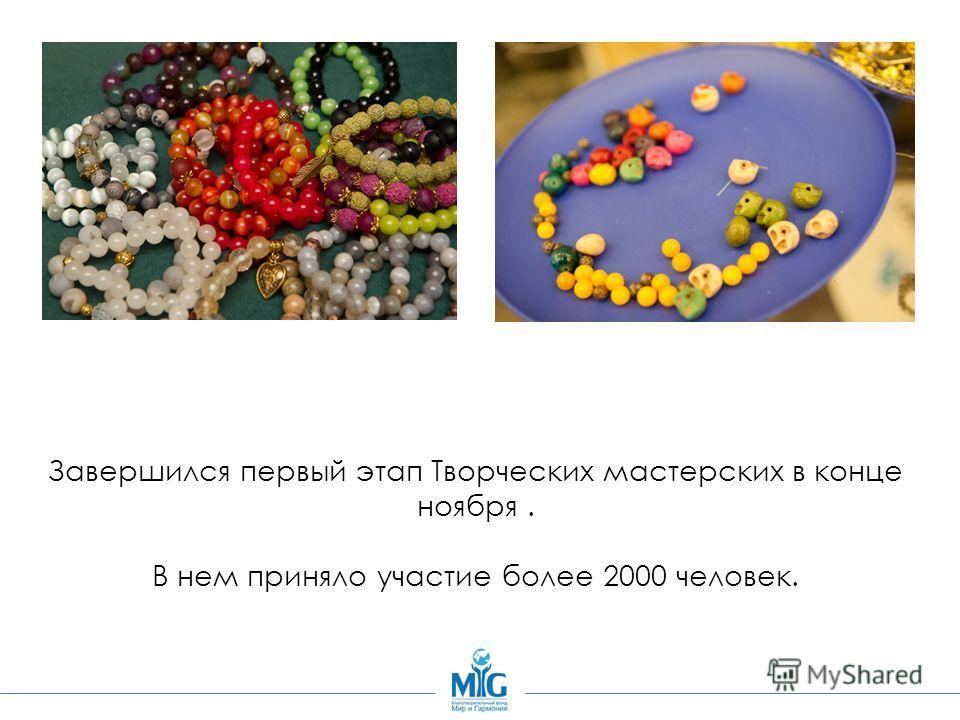 Завершился первый этап Творческих мастерских в конце ноября. В нем приняло участие более 2000 человек.