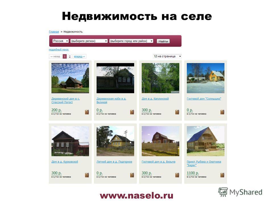 www.naselo.ru Недвижимость на селе