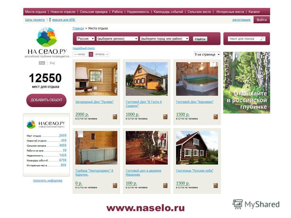 www.naselo.ru ООО «Маркет Медиа» является Региональным Диспетчерским Центром по Северо-Западному региону.