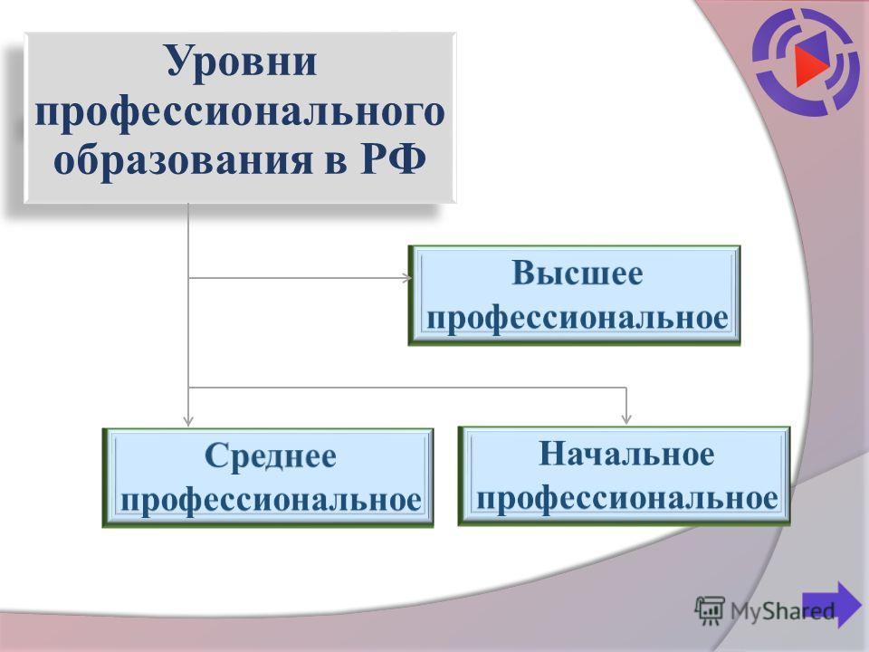 Уровни профессионального образования в РФ