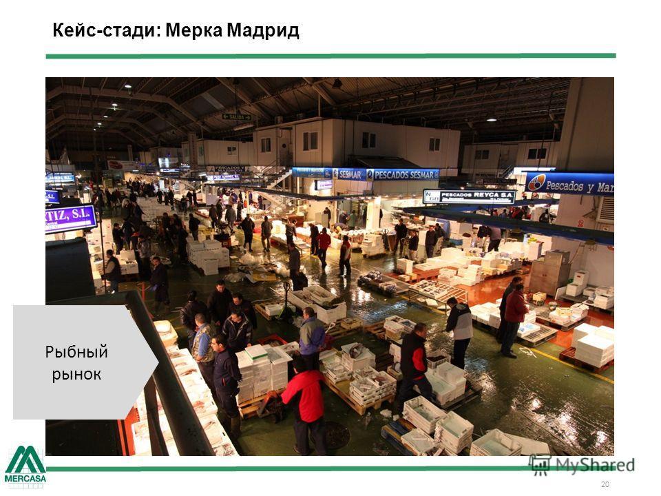 Кейс-стади: Мерка Мадрид 20 Рыбный рынок