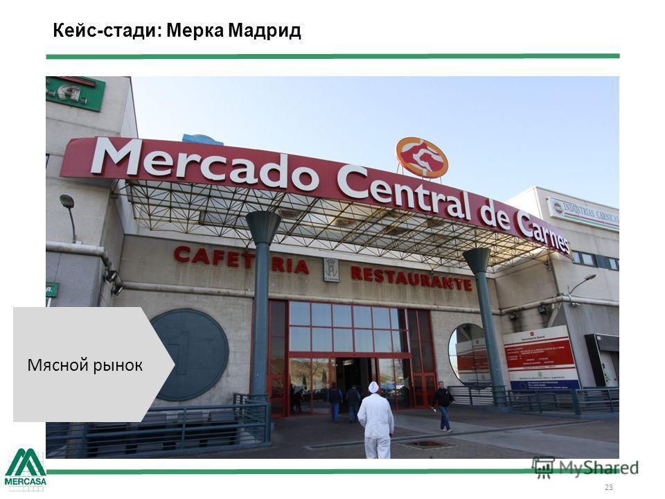 Кейс-стади: Мерка Мадрид 23 Мясной рынок