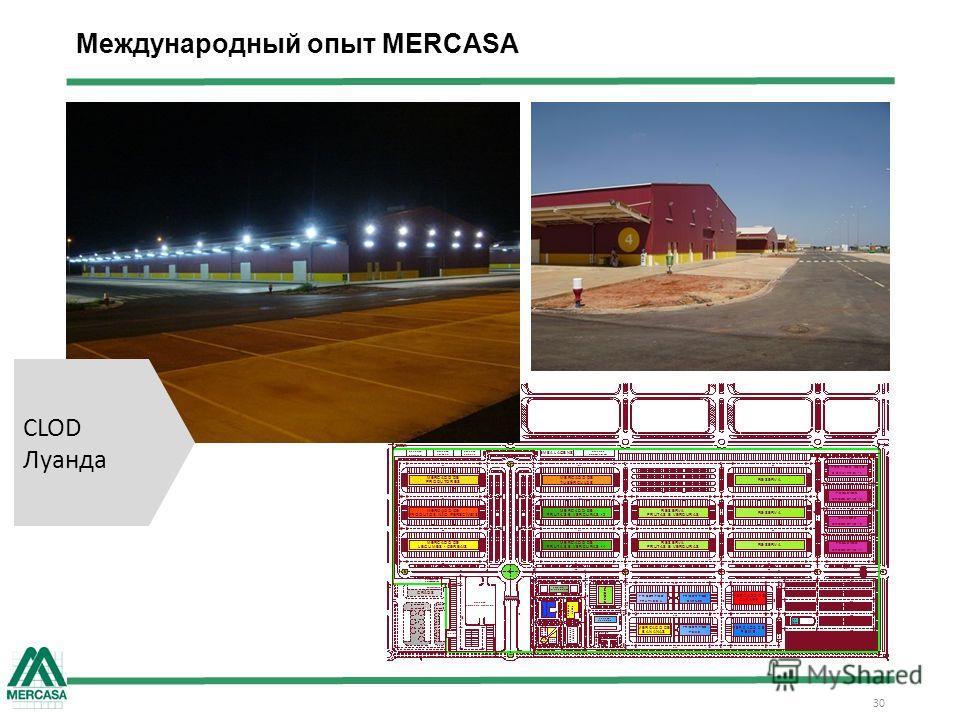 Международный опыт MERCASA 30 CLOD Луанда