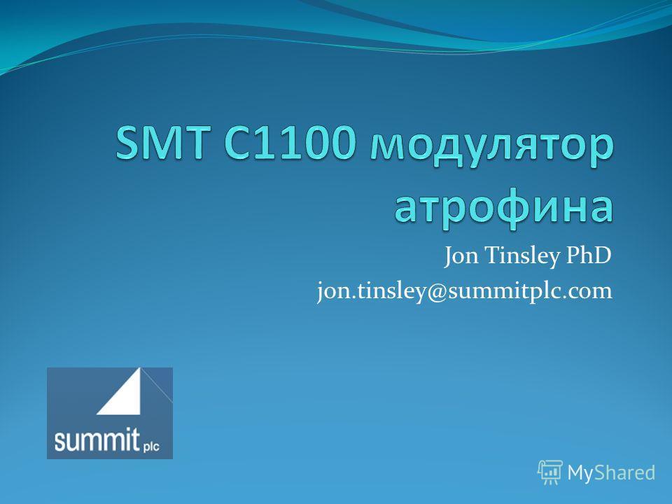 Jon Tinsley PhD jon.tinsley@summitplc.com