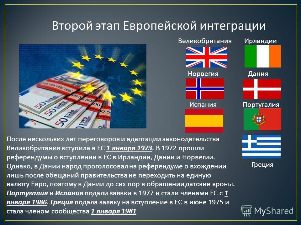 Первый этап Европейской интеграции В 1951 ФРГ, Бельгия, Нидерланды, Люксембург, Франция, Италия создали Европейское объединение угля и стали целью которого стало объединение европейских ресурсов по производству стали и угля, которое, по мысли его соз
