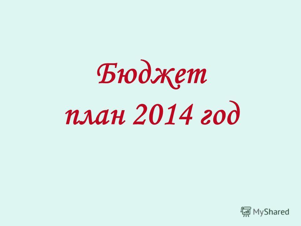 Бюджет план 2014 год