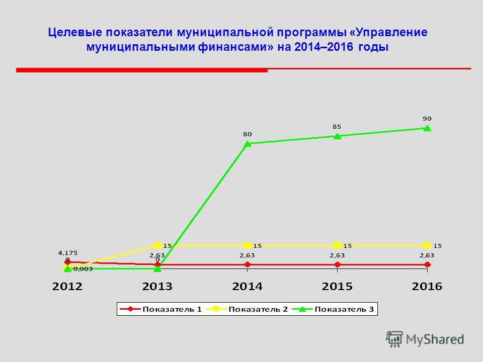Целевые показатели муниципальной программы «Управление муниципальными финансами» на 2014–2016 годы