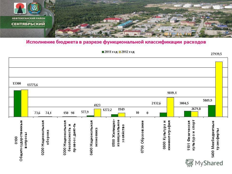 Исполнение бюджета в разрезе функциональной классификации расходов