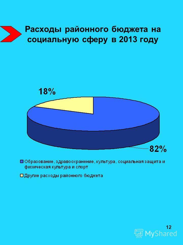 Расходы районного бюджета на социальную сферу в 2013 году 12