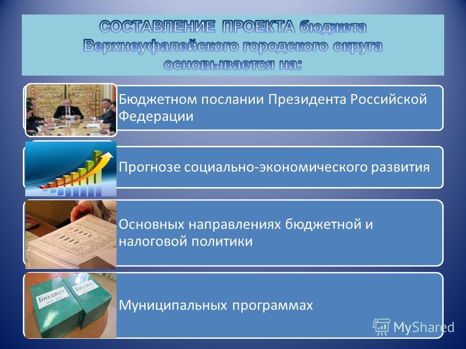 Бюджетном послании Президента Российской Федерации Прогнозе социально-экономического развития Основных направлениях бюджетной и налоговой политики Муниципальных программах