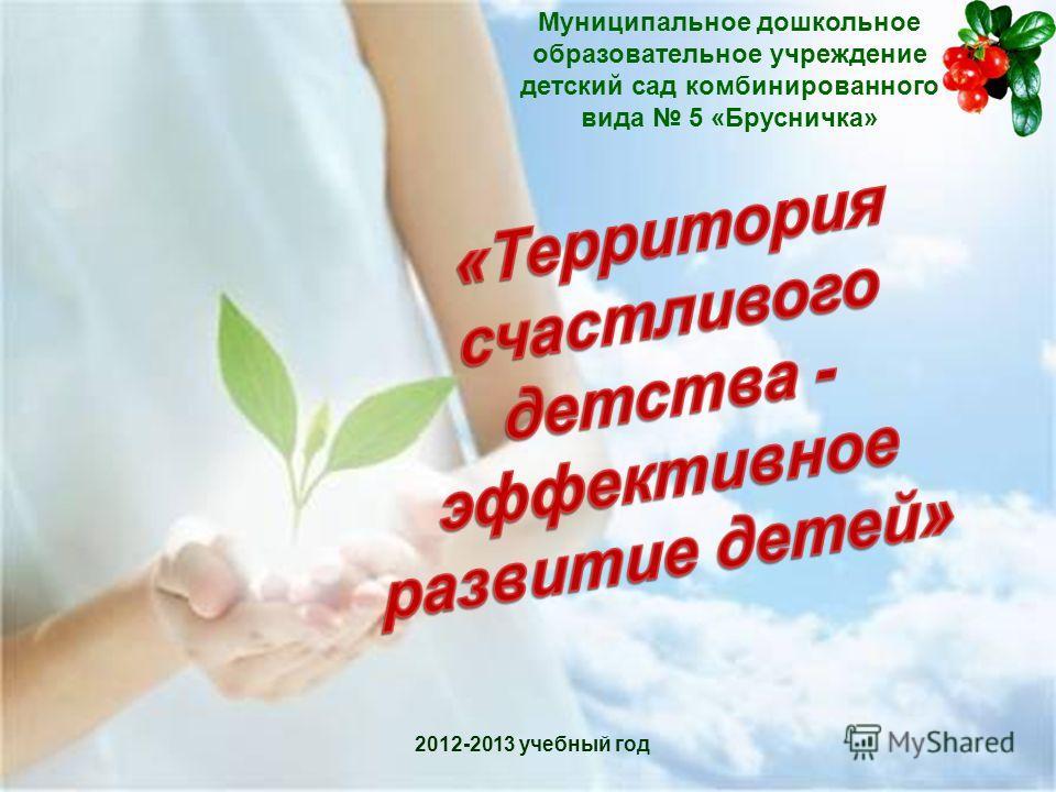 Муниципальное дошкольное образовательное учреждение детский сад комбинированного вида 5 «Брусничка» 2012-2013 учебный год