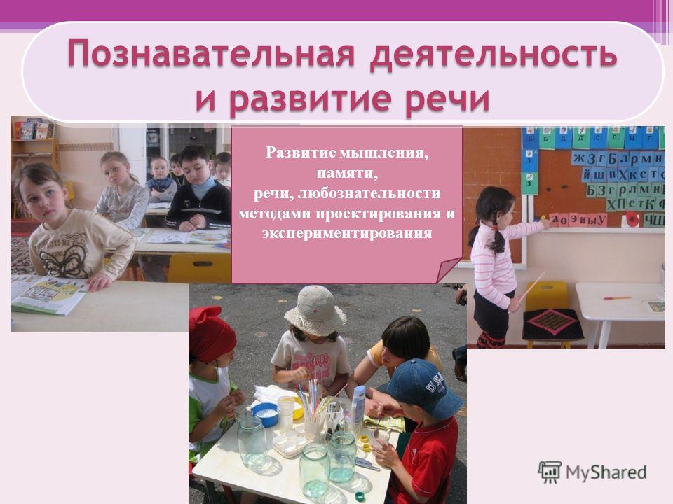 Развитие мышления, памяти, речи, любознательности методами проектирования и экспериментирования