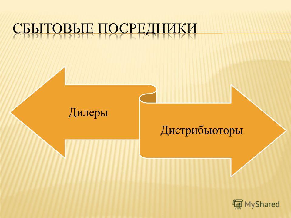 Дилеры Дистрибьюторы