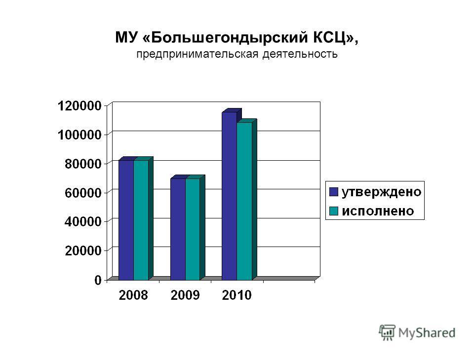 МУ «Большегондырский КСЦ», предпринимательская деятельность