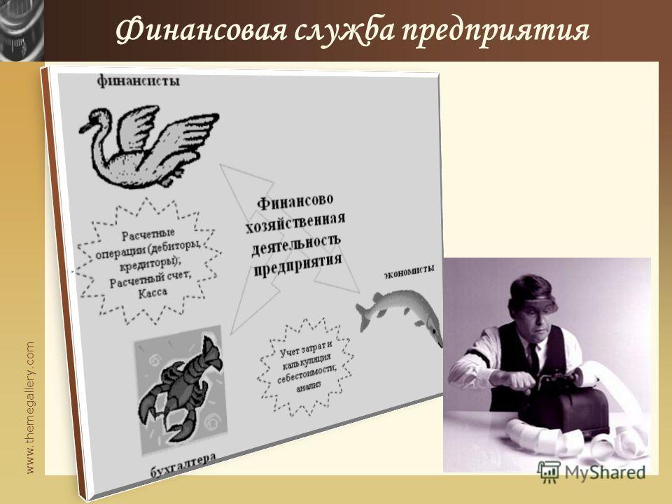 www.themegallery.com Финансовая служба предприятия