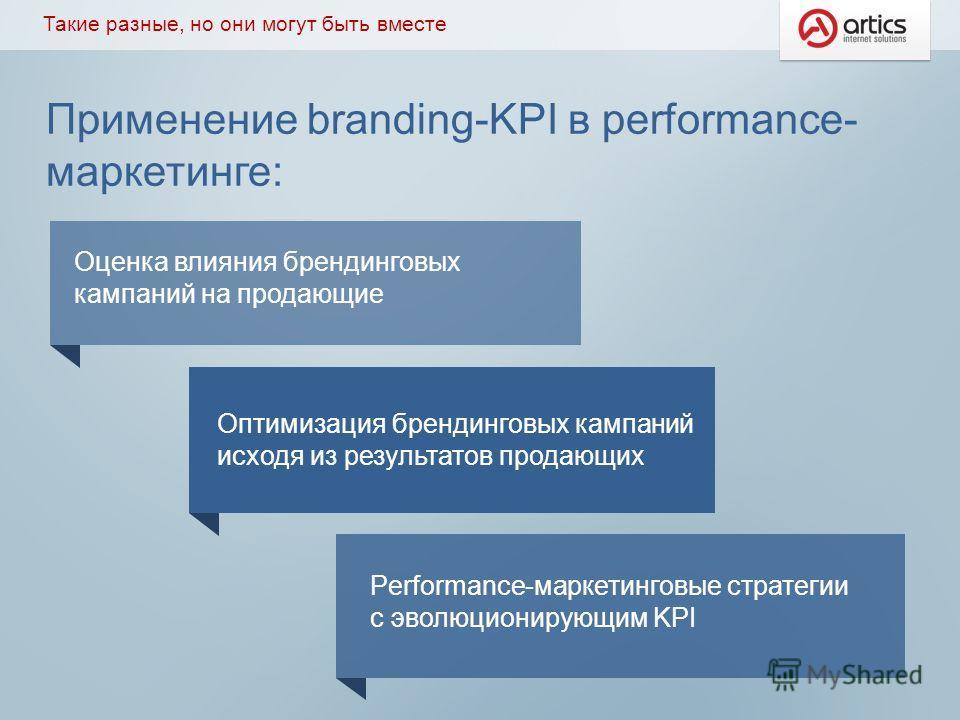 Применение branding-KPI в performance- маркетинге: Такие разные, но они могут быть вместе Оценка влияния брендинговых кампаний на продающие Оптимизация брендинговых кампаний исходя из результатов продающих Performance-маркетинговые стратегии с эволюц
