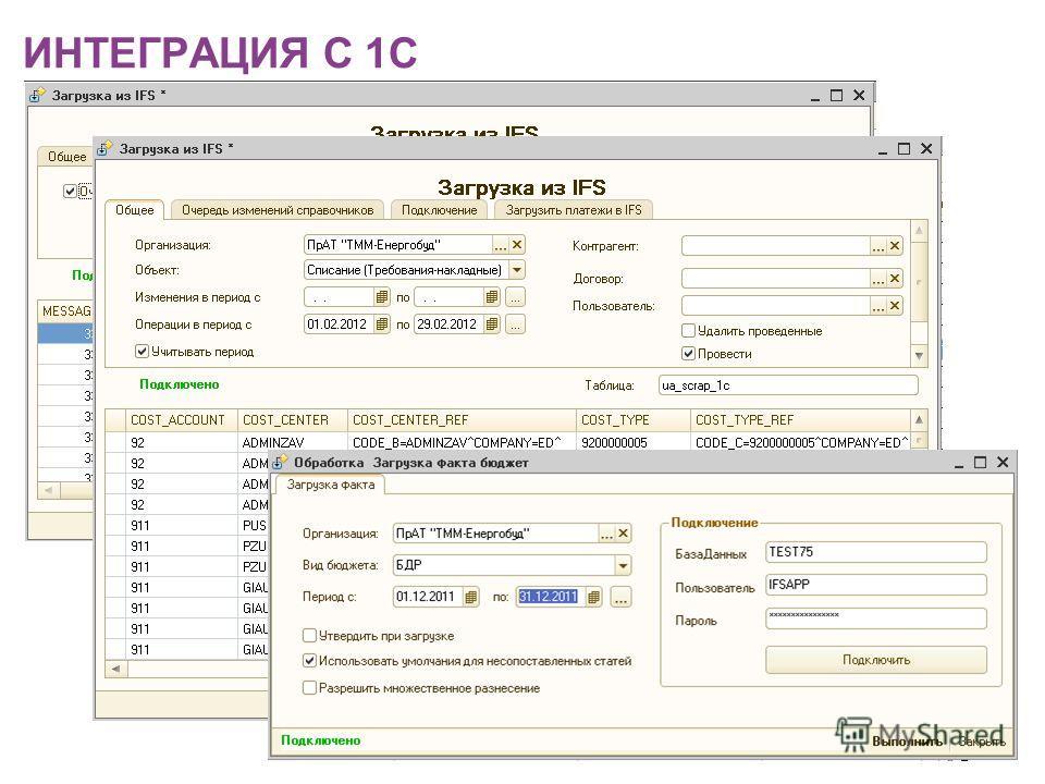 ИНТЕГРАЦИЯ С 1С