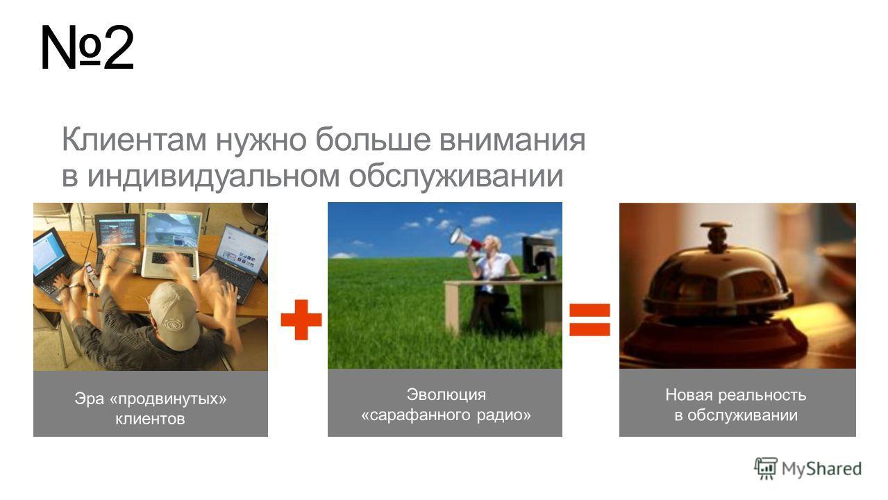 2 Эволюция «сарафанного радио» Новая реальность в обслуживании Эра «продвинутых» клиентов