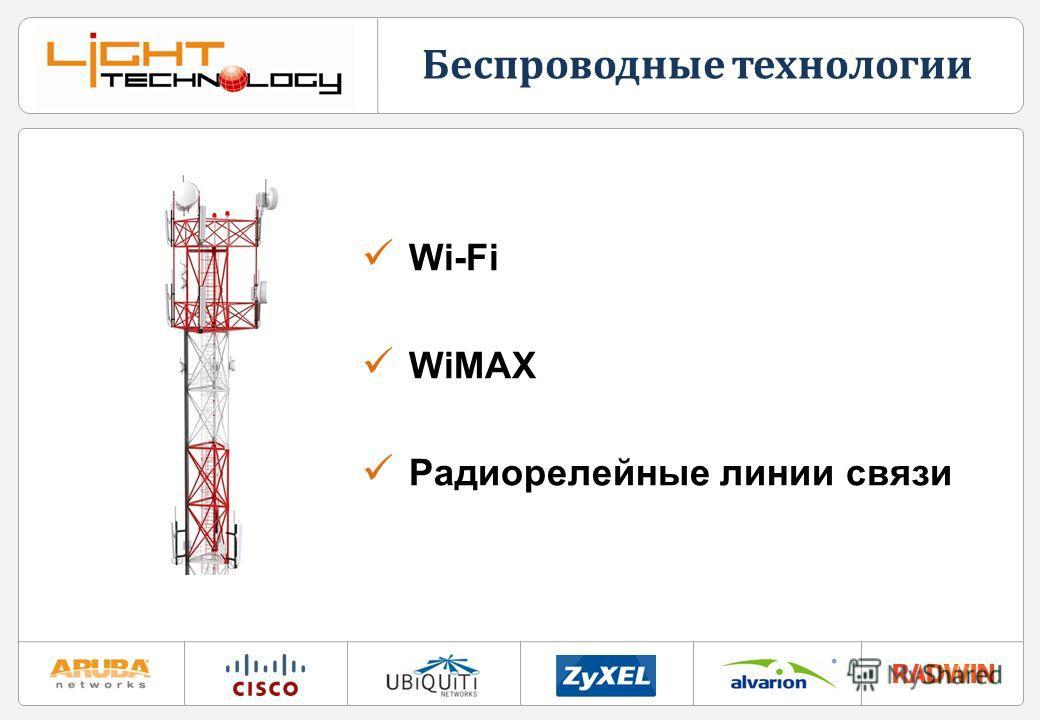 Беспроводные технологии Wi-Fi WiMAX Радиорелейные линии связи