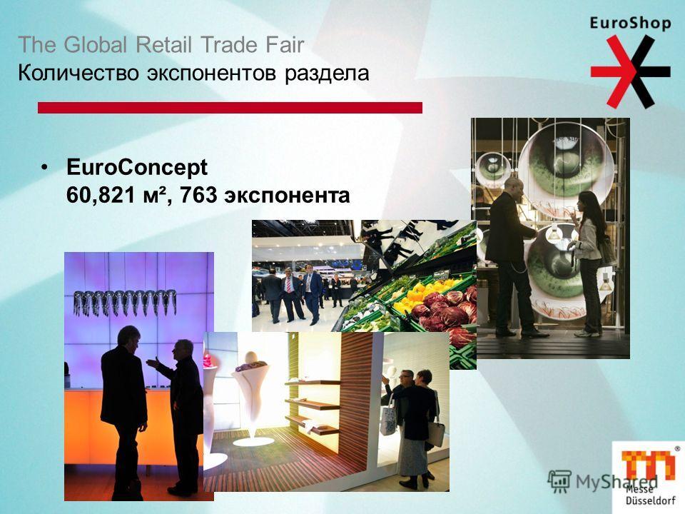 The Global Retail Trade Fair Количество экспонентов раздела EuroConcept 60,821 м², 763 экспонента