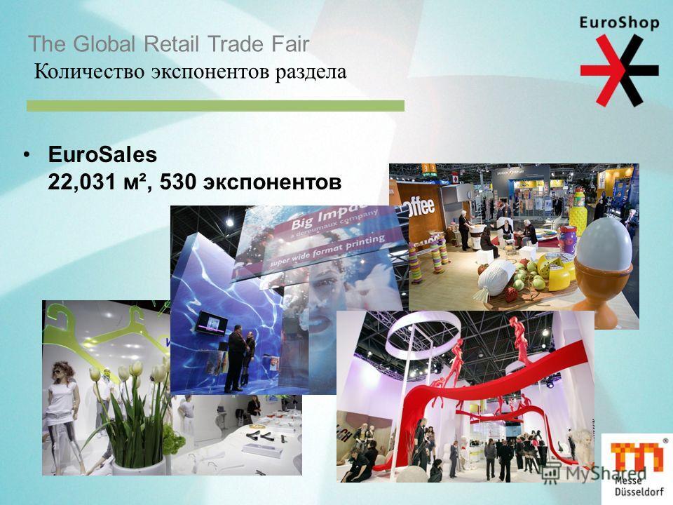 The Global Retail Trade Fair Количество экспонентов раздела EuroSales 22,031 м², 530 экспонентов