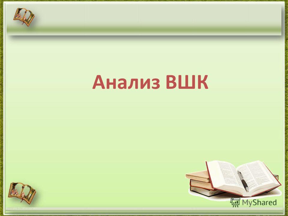 Анализ ВШК http://aida.ucoz.ru