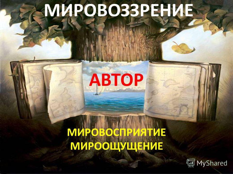 МИРОВОЗЗРЕНИЕ АВТОР МИРОВОСПРИЯТИЕ МИРООЩУЩЕНИЕ