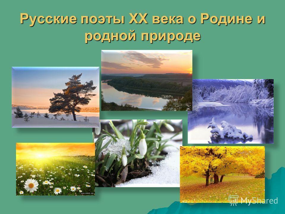 Русские поэты XX века о Родине и родной природе