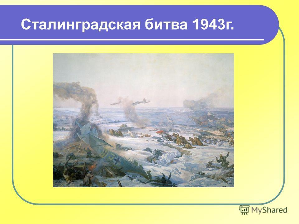 Сталинградская битва 1943 г.
