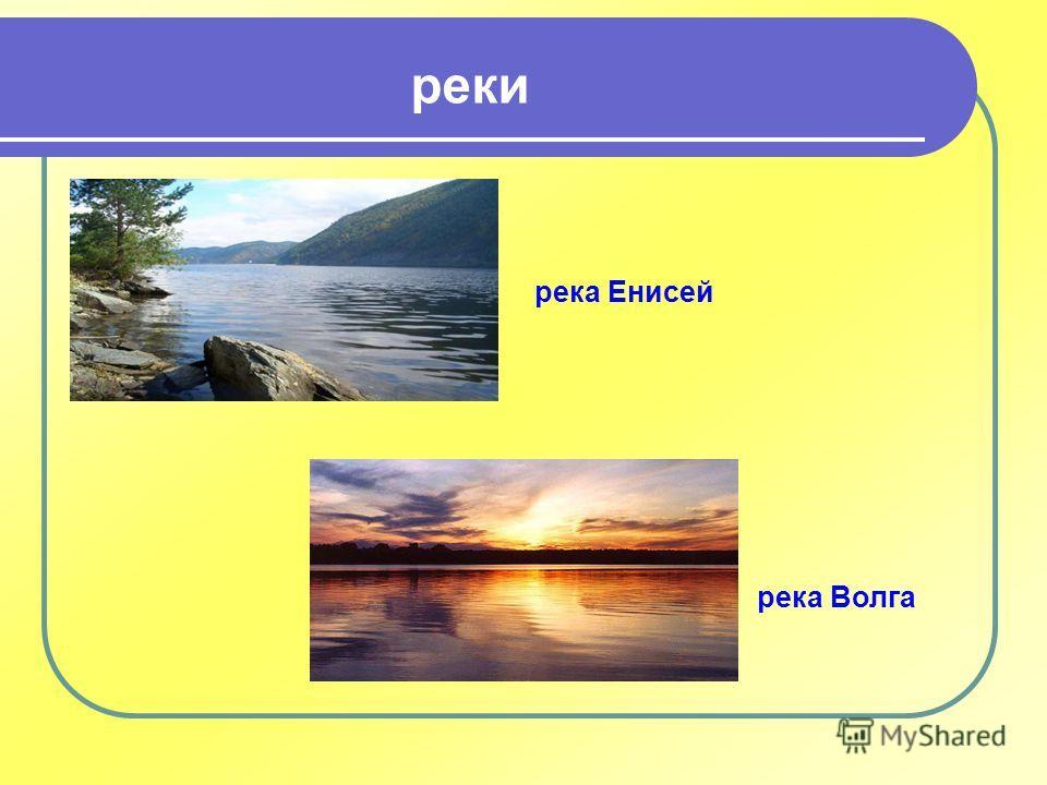 река Енисей реки река Волга