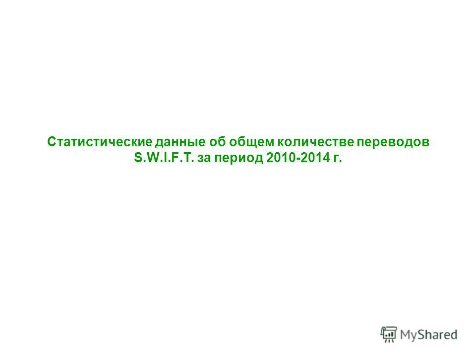 Статистические данные об общем количестве переводов S.W.I.F.T. за период 2010-2014 г.