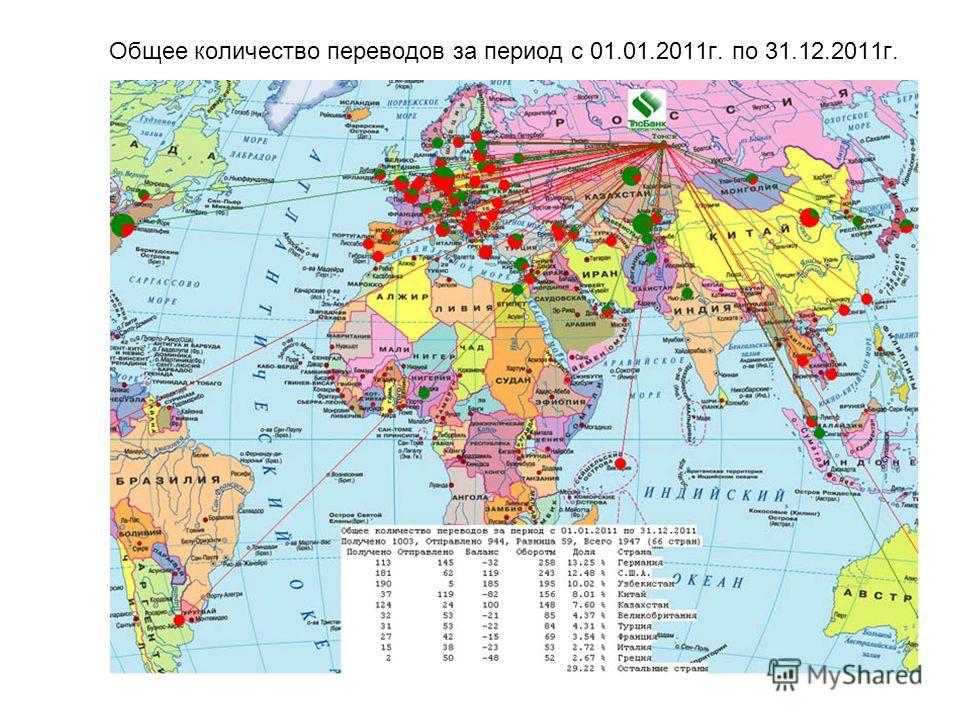 Общее количество переводов за период с 01.01.2011 г. по 31.12.2011 г.
