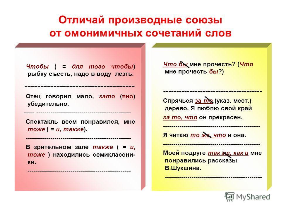 Презентация на тему Служебные части речи ПРЕДЛОГИ СОЮЗЫ ЧАСТИЦЫ  15 Отличай производные