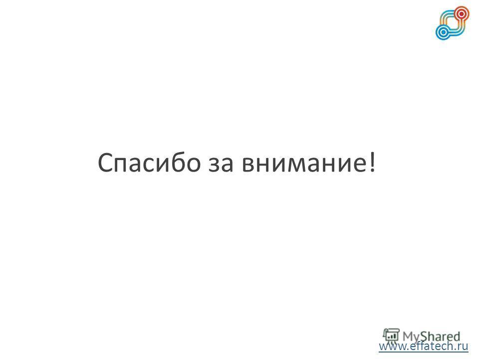 Спасибо за внимание! www.effatech.ru