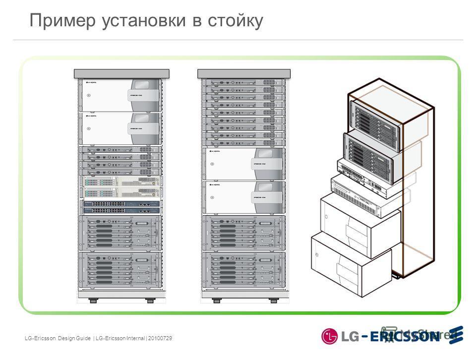 LG-Ericsson Design Guide | LG-Ericsson Internal | 20100729 Пример установки в стойку