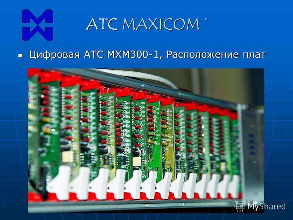 ATC MAXICOM ® Цифровая АТС МХМ300-1, Расположение плат