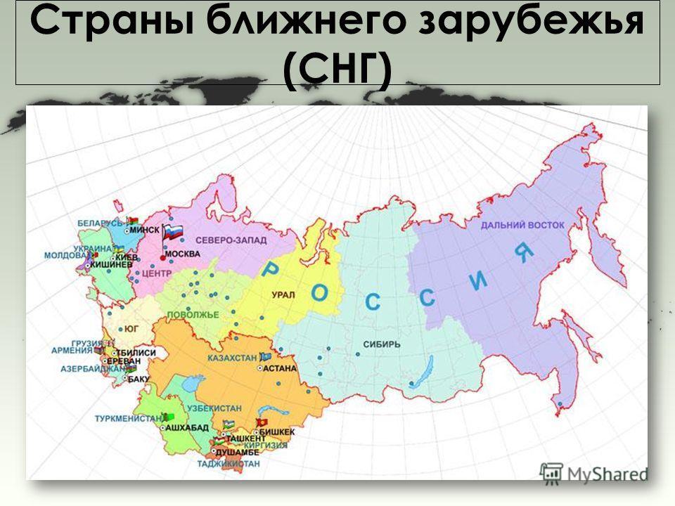 Страны ближнего зарубежья (СНГ)