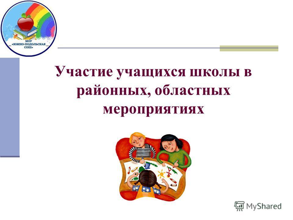 Участие учащихся школы в районных, областных мероприятиях