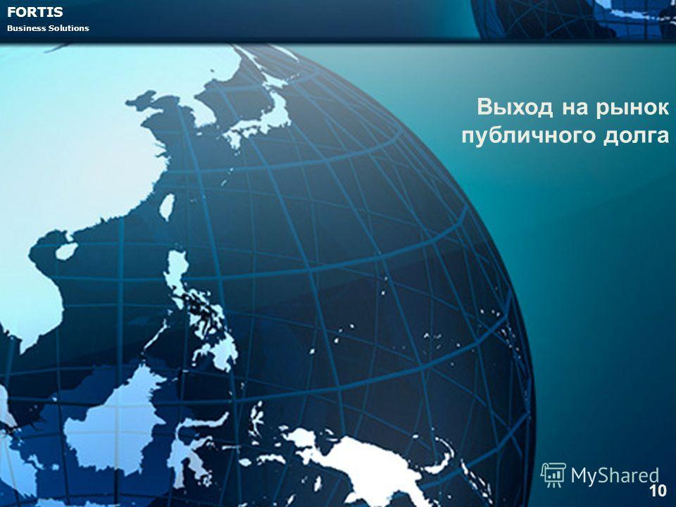 FORTIS Business Solutions Выход на рынок публичного долга 10
