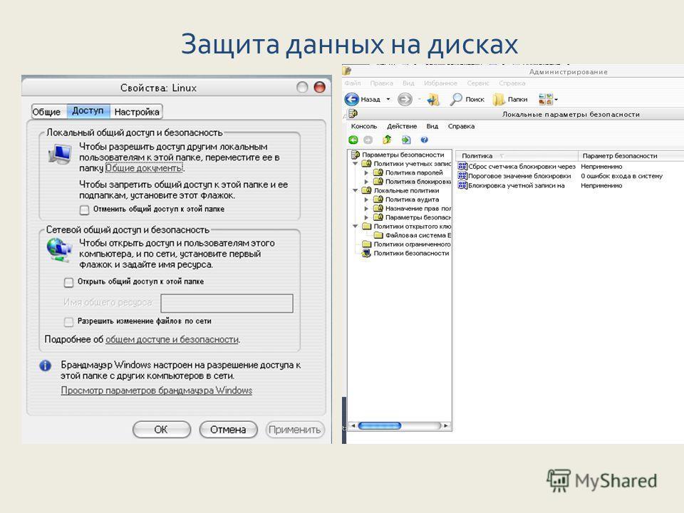 Защита данных на дисках