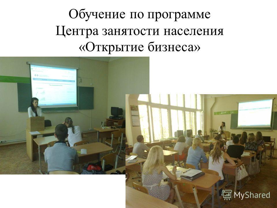 Обучение по программе Центра занятости населения «Открытие бизнеса»
