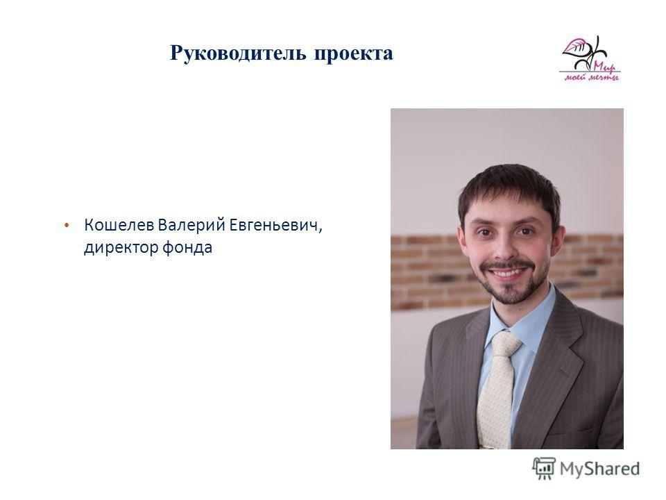 Руководитель проекта Кошелев Валерий Евгеньевич, директор фонда