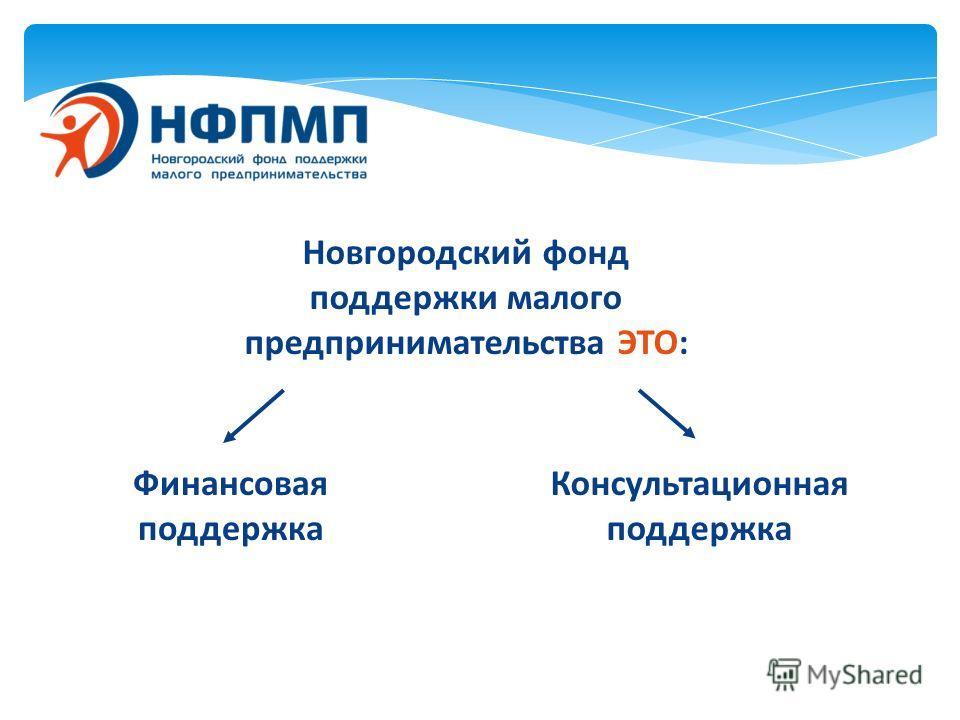 Новгородский фонд поддержки малого предпринимательства ЭТО: Финансовая поддержка Консультационная поддержка