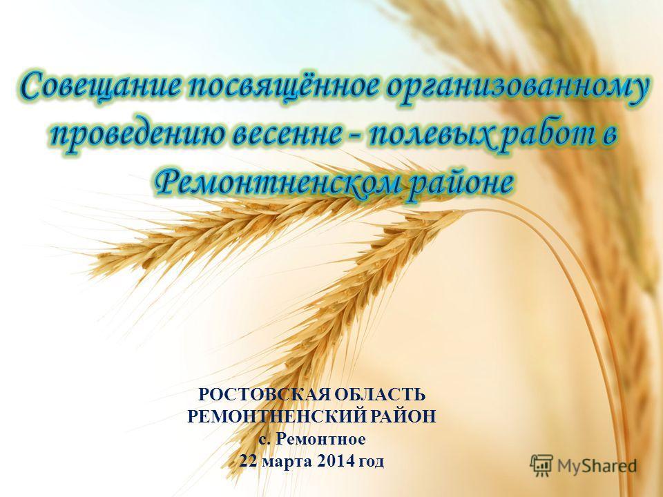 РОСТОВСКАЯ ОБЛАСТЬ РЕМОНТНЕНСКИЙ РАЙОН с. Ремонтное 22 марта 2014 год