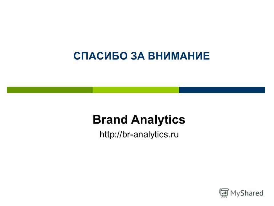 Brand Analytics http://br-analytics.ru СПАСИБО ЗА ВНИМАНИЕ