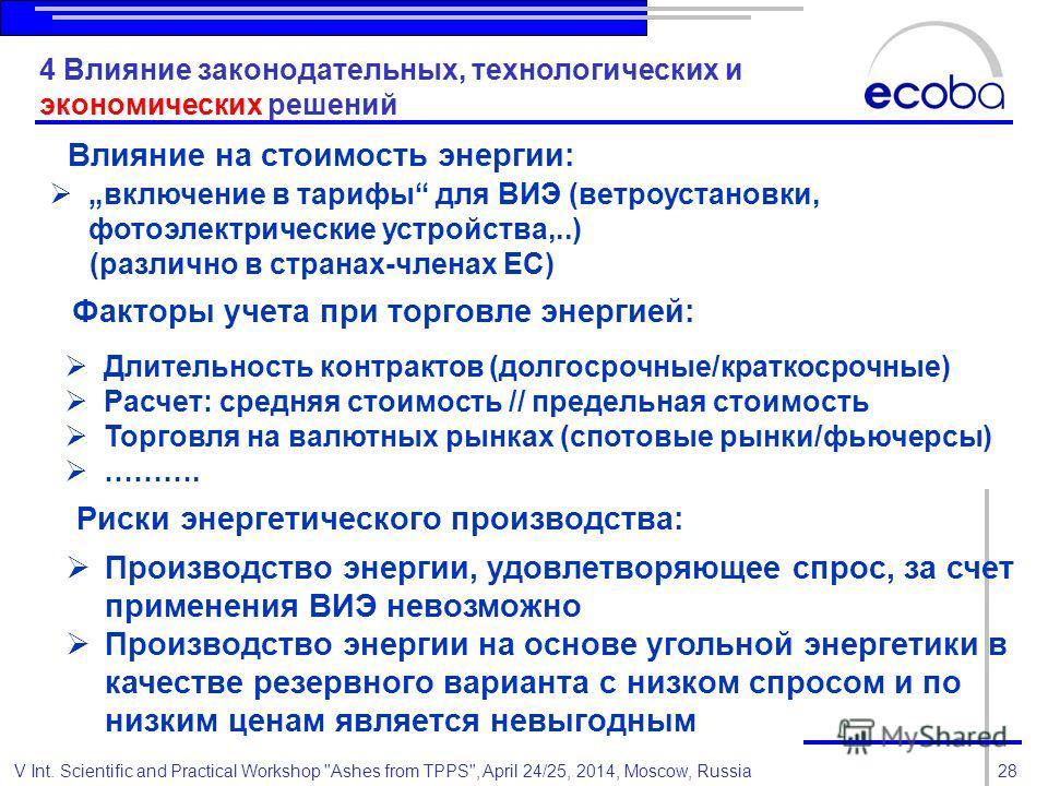 28V Int. Scientific and Practical Workshop