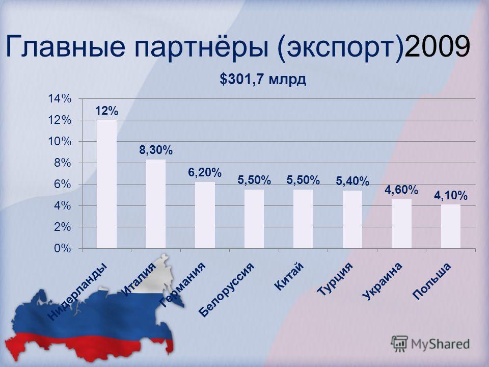 Главные партнёры (экспорт)2009